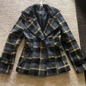 Jackets & Blazers - Plaid coat
